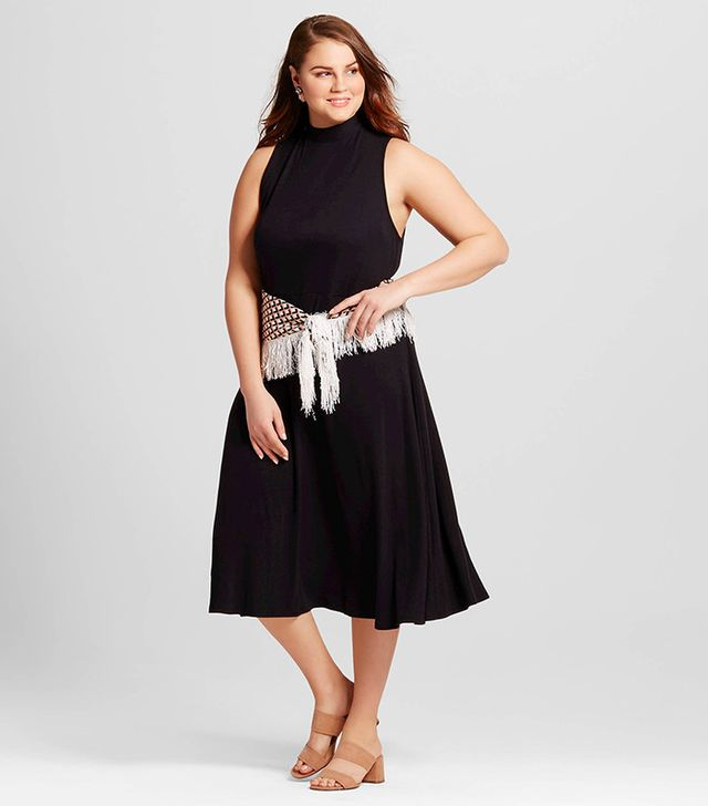 Who What Wear Collection Tie Back Rib Midi Dress