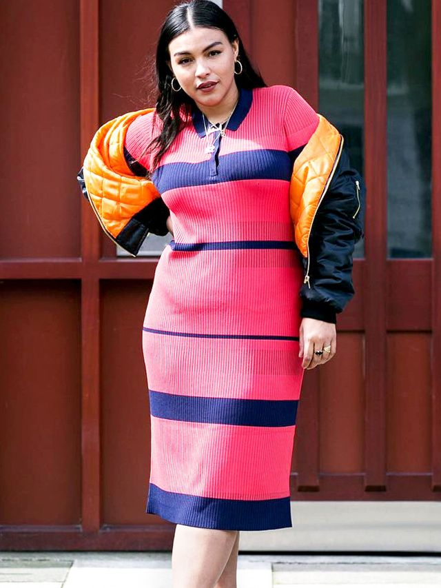 paloma model stripe dress