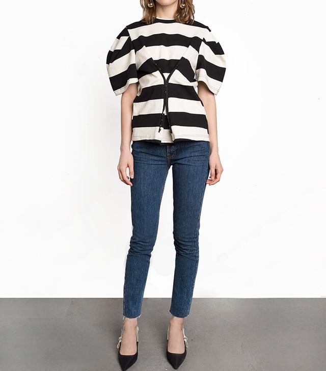 best stripe corset top