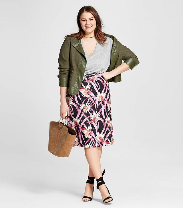 best plus size floral skirt