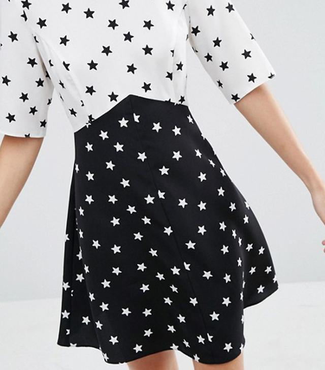 best star print dress