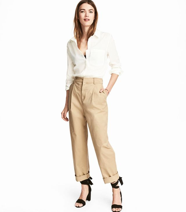 best affordable khaki pants- H&M chinos