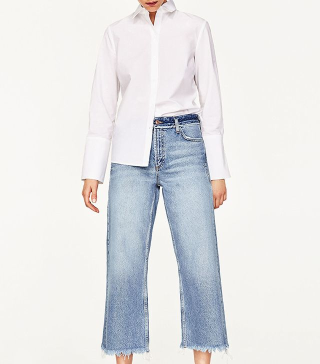 Zara Cropped Mid-Rise Jeans