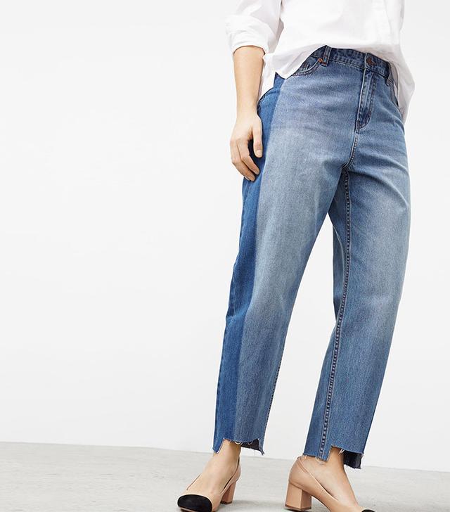 plus-size jeans - Mango Mom-Fit Tux Jeans
