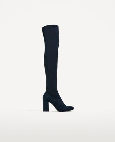 Zara Stretch Leg High Heel Boots