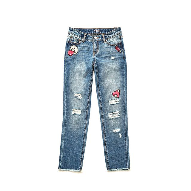 Candie's Patched Ripped Skinny Jeans