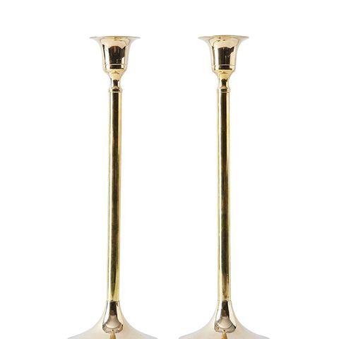 Vintage-inspired Brass Candlesticks