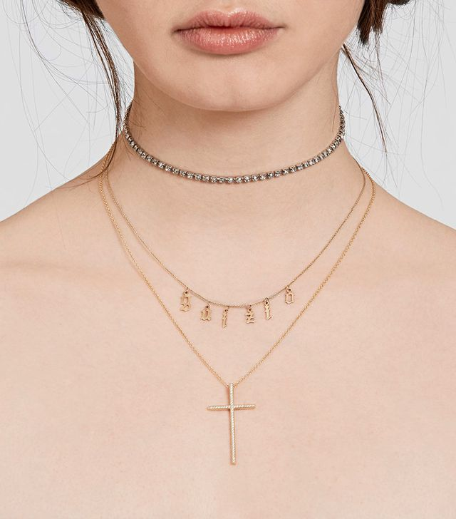 Danielle Guizio x The M Jewelers Cross My Heart Necklace