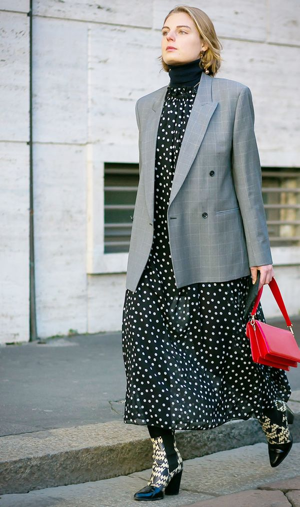 easy styling trick - blazer over dress