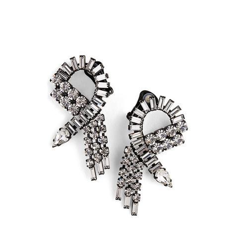 Crystal Swirl Earrings