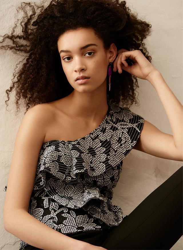 Zara One-Shoulder Top