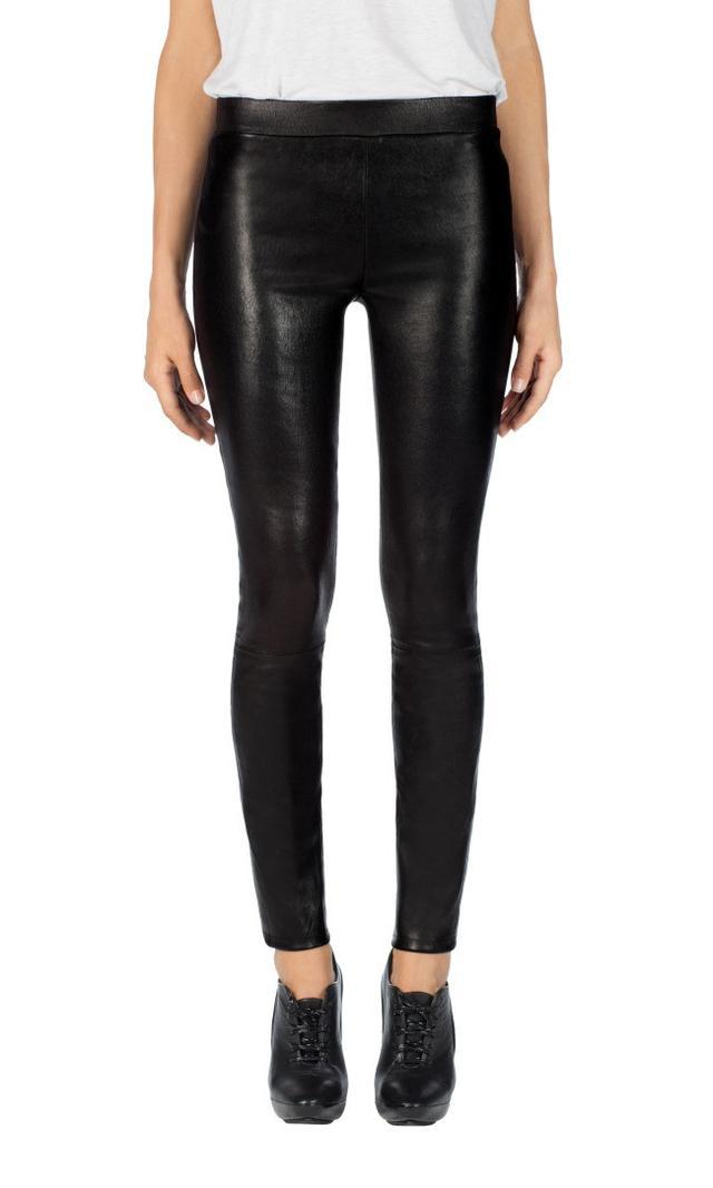 black leather legging - J Brand Edita Mid Rise Leather Legging