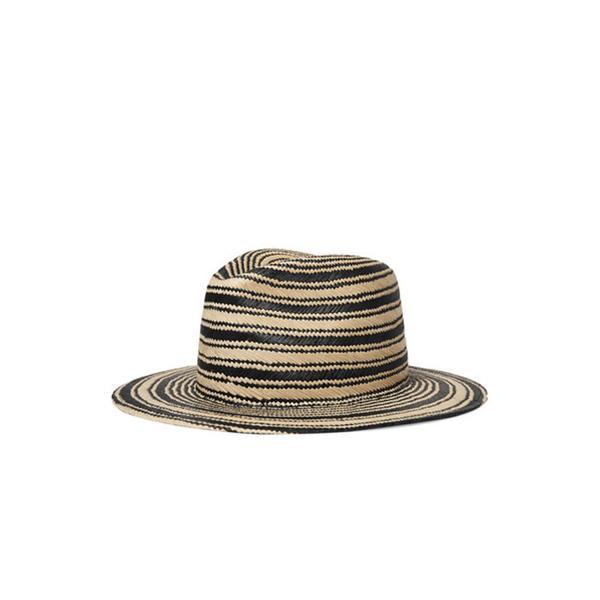 Striped Straw Panama Hat