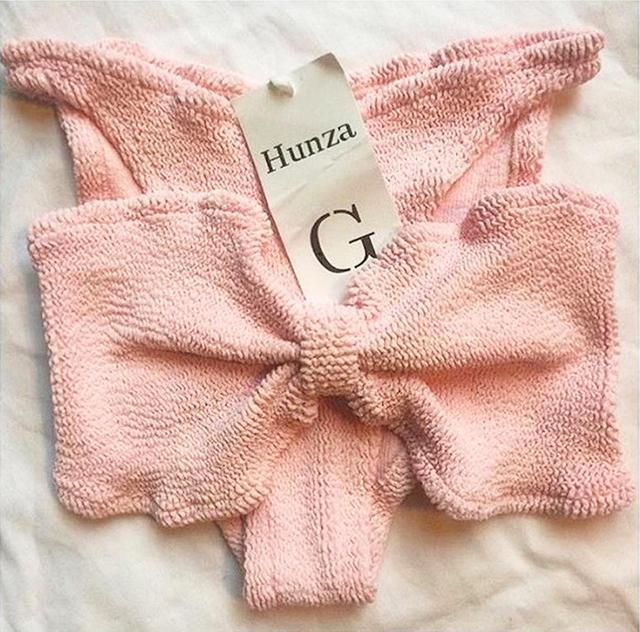 best pink bikini- hunza g jean