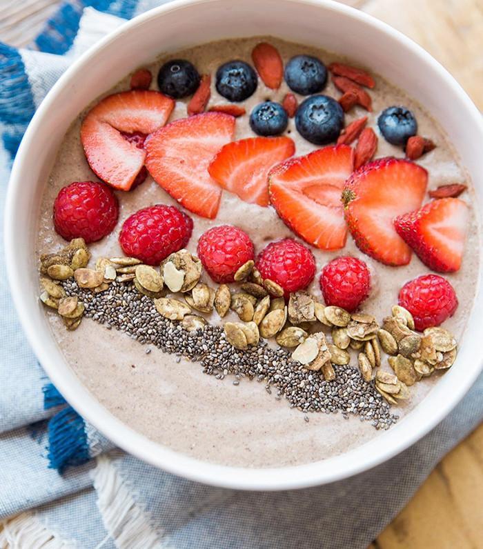 smoothie bowl recipe-protein smoothie bowl