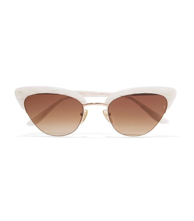 Sunday Somewhere Pixie Cat-Eye Acetate and Rose Gold Sunglasses