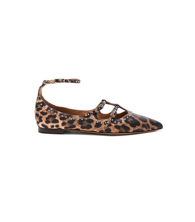 Givenchy Piper Leopard Print Leather Ballerina Flats
