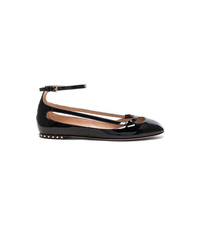 Valentino Stardust Babe Patent Leather Ballerina Flats