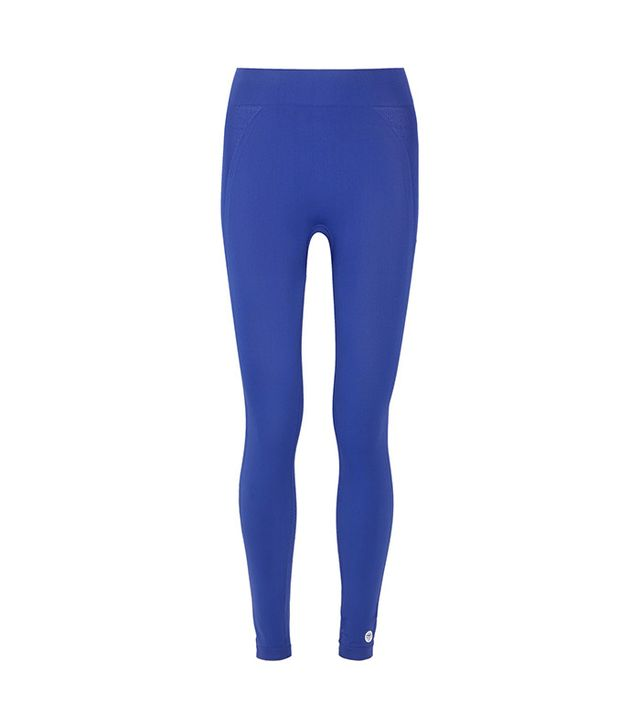 Tory Sport Seamless Cropped Stretch-Jersey Leggings