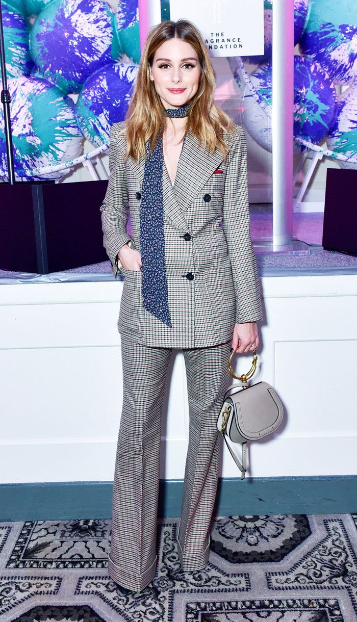 Olivia Palermo check suit