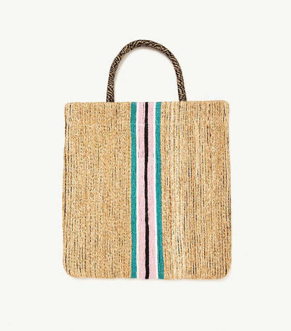 Best basket bags: Zara bag with stripe