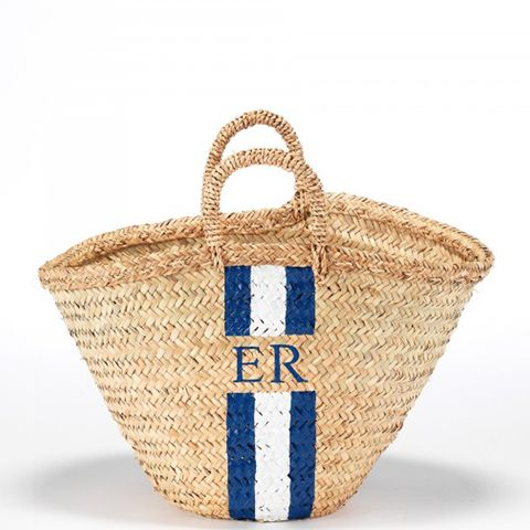 Monogram Plaited Basket