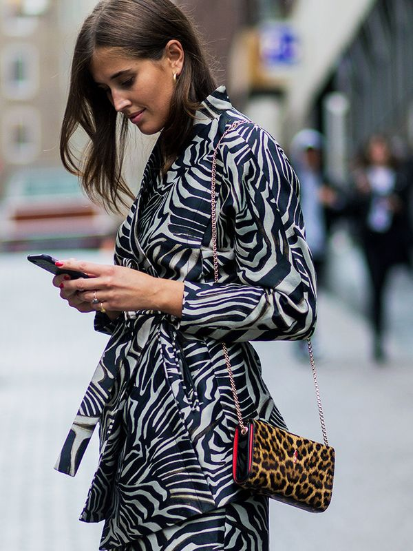 How to wear leopard print: Zebra and leopard print were made for each other