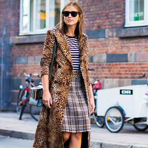 How to wear leopard print: Clash leopard with other prints