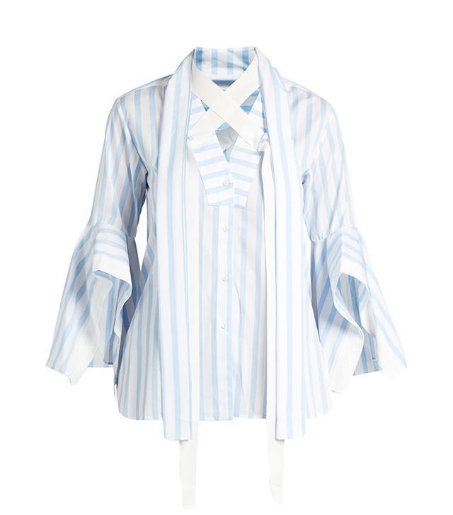 Best Striped Shirts: Palmer//Harding Pussybow-Neck Shirt