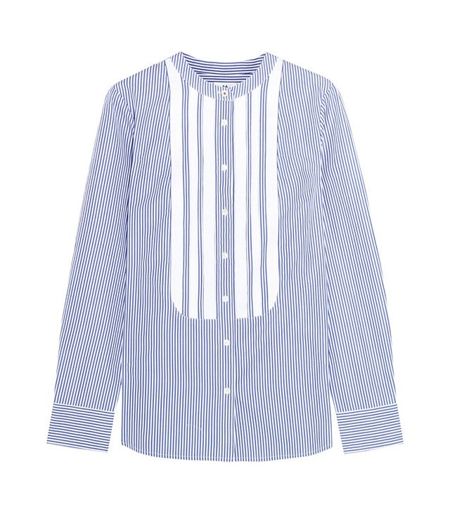 Best Striped Shirts: J.Crew + Thomas Mason Grosgrain-Trimmed Striped Shirt