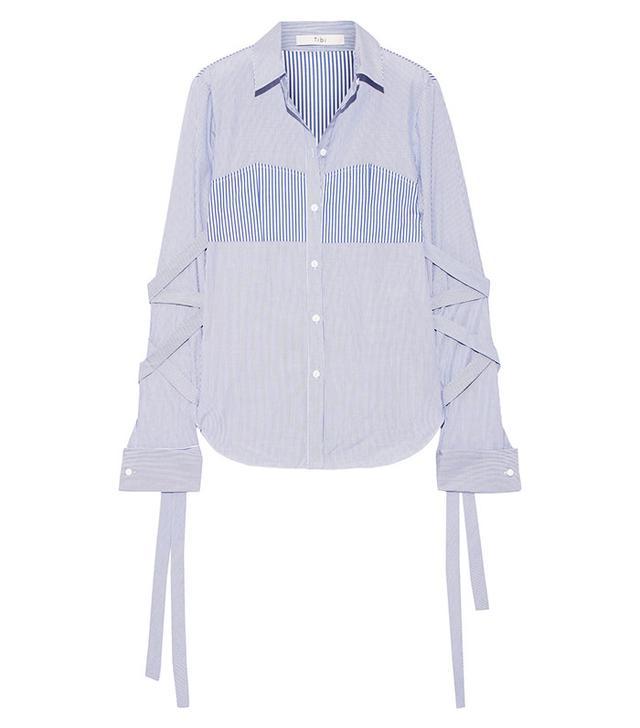 Best Striped Shirts: Tibi Striped Poplin Shirt