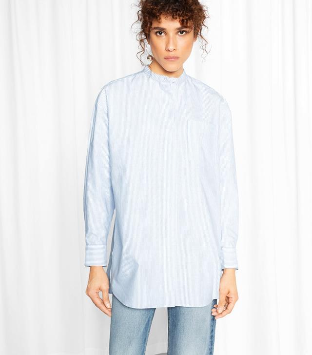 Best Striped Shirts: & Other Stories Mandarin Cotton Shirt