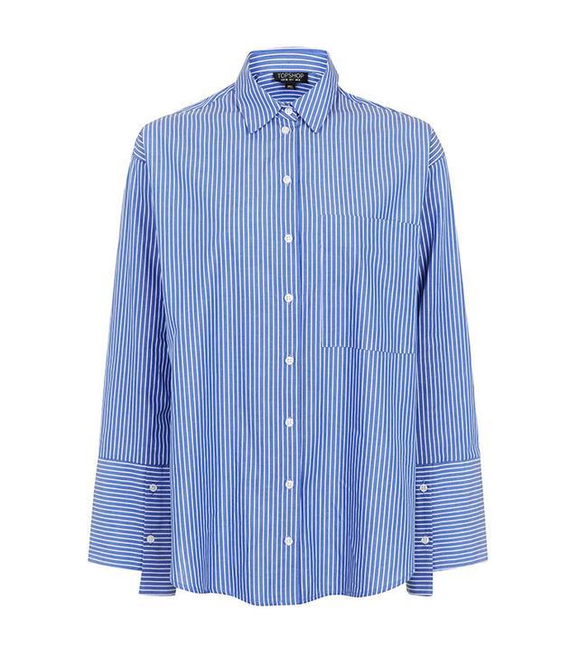 Best Striped Shirts: Topshop Deep Cuff Shirt