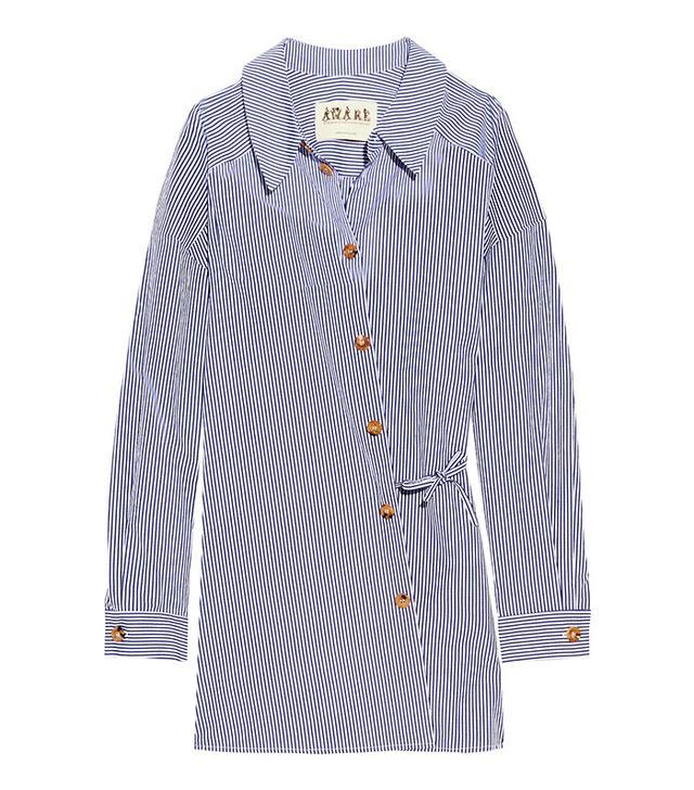 Best Striped Shirts: A.W.A.K.E. Striped Cotton Poplin Shirt