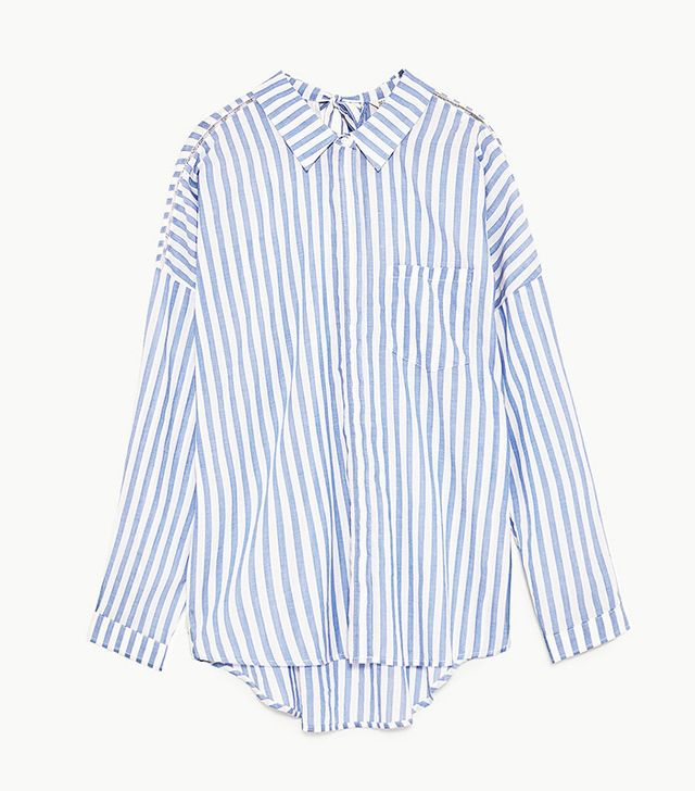 Best Striped Shirts: Zara Oversized Striped Shirt