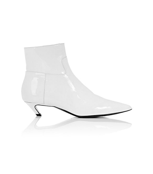 "Balenciaga ""Broken Heel"" Patent Leather Ankle Boots"