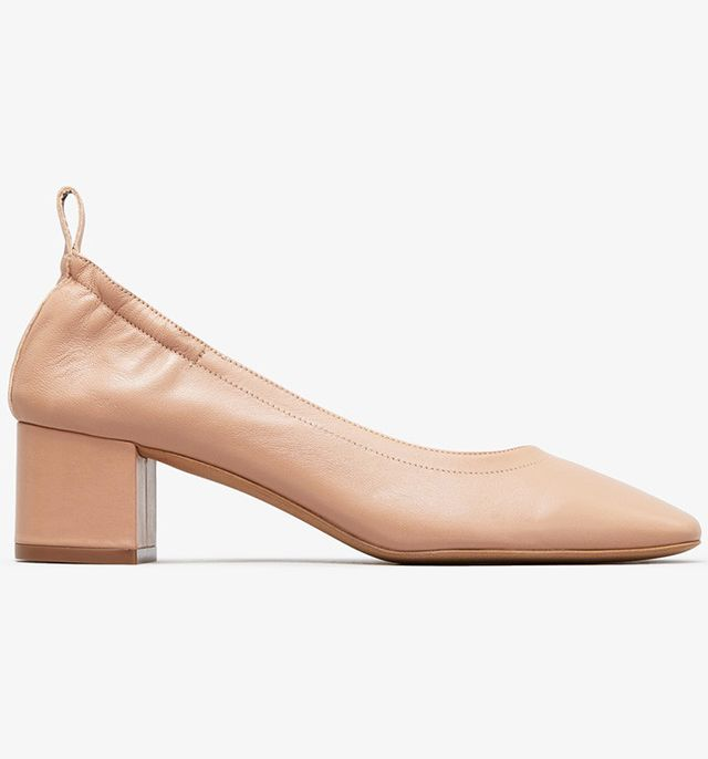 most comfortable heels- everlane the day heel