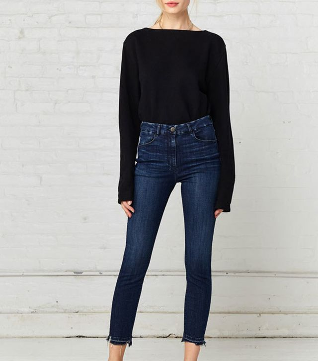3x1 W3 High Rise Channel Seam Skinny Crop