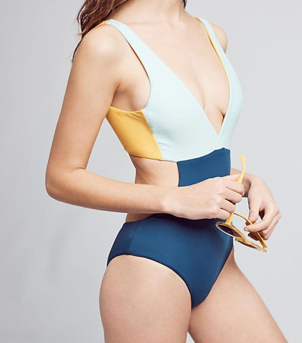 Anthropologie Basta Surf Reversible Colorblocked One-Piece