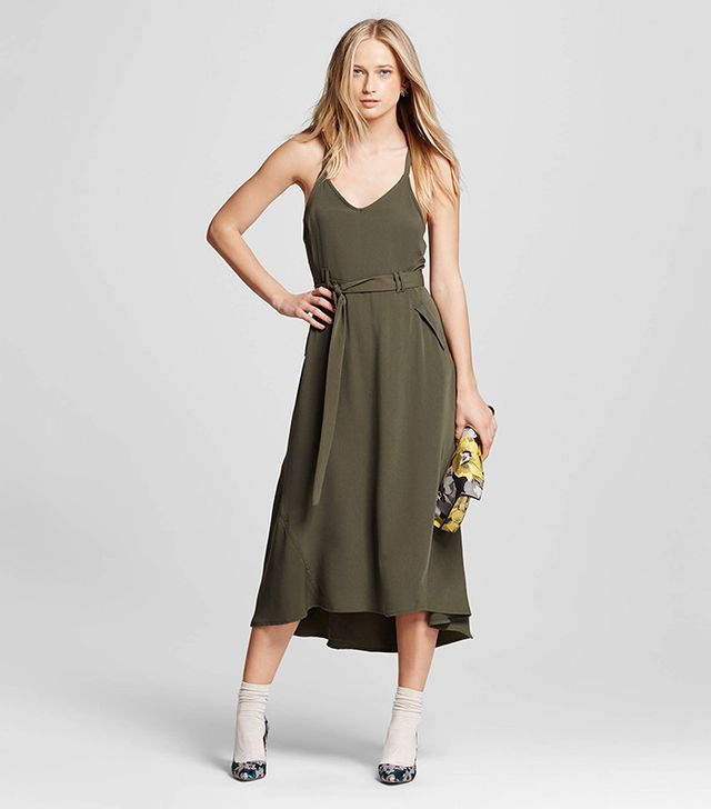 Who What Wear Utility Midi Dress
