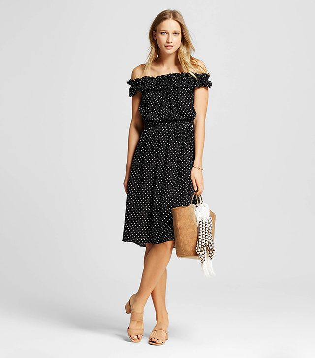Who What Wear Collection Bardot Midi Dress