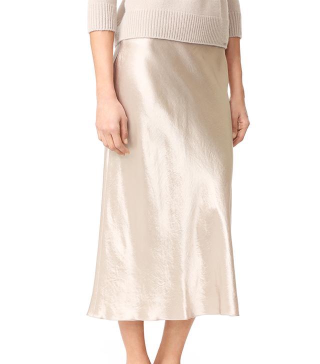 best white skirt- vince slip skirt