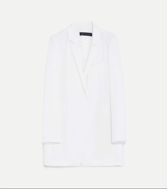best affordable white jacket- Zara