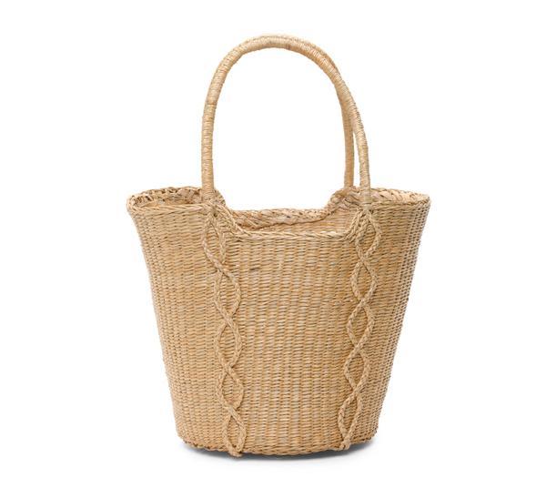 summer basket bag - Memar Diamond Motif Basket Tote