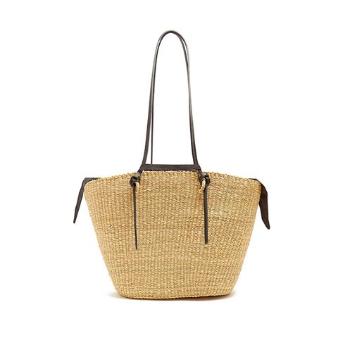 Racco Large Woven Straw Tote