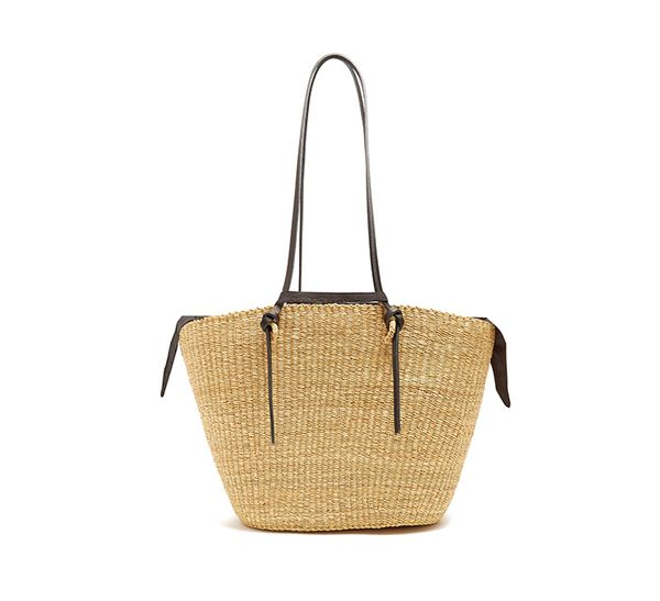 summer basket bag - Muun Racco Large Woven Straw Tote