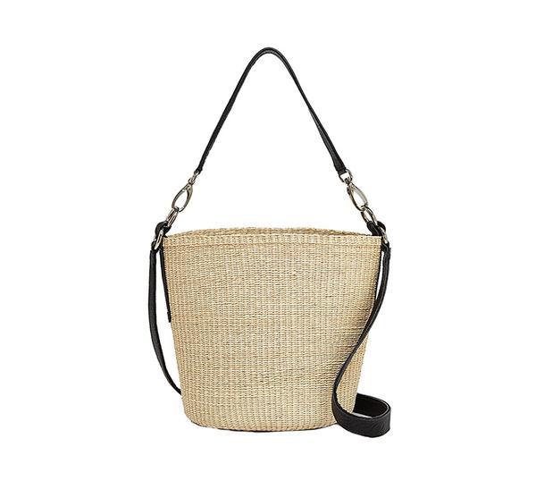 summer basket bag - Sensi Studios Straw and Leather Crossbody