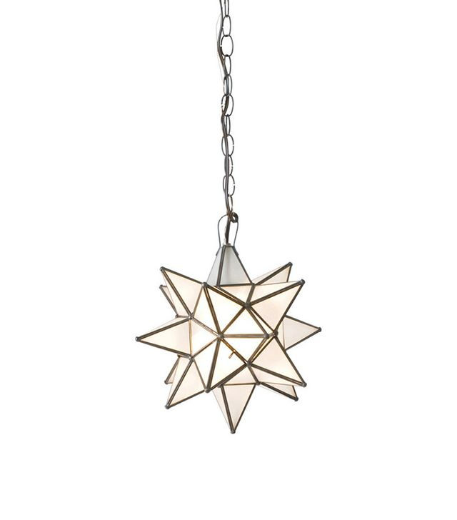 Worlds Away Small Frosted Glass Star Chandelier