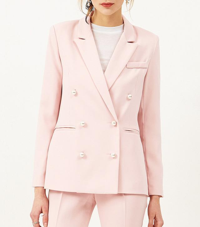 storets pink pearl blazer