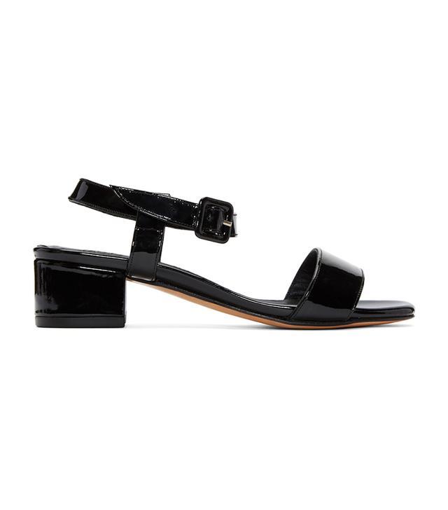Maryam Nassir Zadeh Black Patent Leather Sophie Sandals